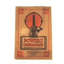 +Vintage Original POWER'S Cameragraph Motion Picture Projector Catalog 1910