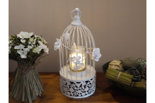 Vintage Style Bird Cage Shabby White Birdcage Candle Holder Wedding Decor
