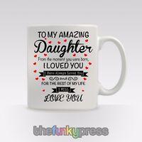 Personalisiert Tochter Becher Tasse Tee Kaffee Geburtstags Weihnachts Geschenk