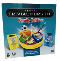 Trivial Pursuit Family Edition Board Game Hasbro Parker Gaming 73013 Complete