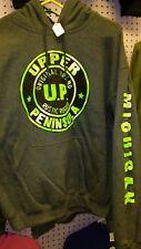 upper peninsula mens hoodie grey and bright green