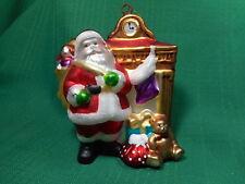 Dept 56 Glass Ornament  Santa  Toys Fireplace