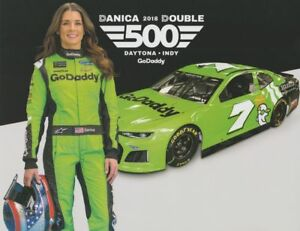 "2018 DANICA PATRICK ""GO DADDY DANICA DOUBLE"" DAYTONA 500 NASCAR MONSTER POSTCARD"