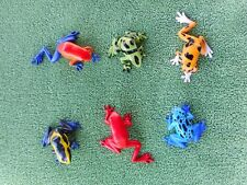 SET OF SIX POISON DART FROGS by Safari Ltd/ toy/frog/NEW