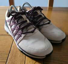 Clarks Womens Lace Up Sneaker Trainer Shoes - UK Size 6.5D EU 40 Burgundy Cream
