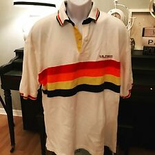 Vintage Tommy Hilfiger Men's Size XXL Sailing  Polo Shirt Rainbow Striped