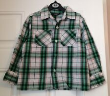 GEORGE boys checked shirt 100% VGC age 3-4 years
