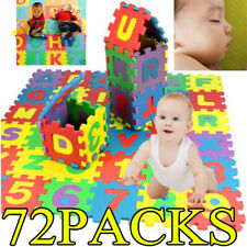 72x Baby Soft Eva Foam Play Mat Alphabet Numbers Puzzle Diy Toy Floor Tile Game