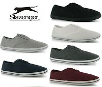 Slazenger Mens LACE UP Canvas Pumps Plimsolls Shoes Trainers 6 Colours Sz:7-14