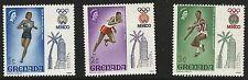 Grenada Scott #280-82, Singles 1968 FVF MH