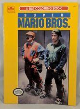Vintage Super Mario Brothers The Movie Coloring Book Rare Nintendo