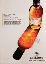 Aberlour Scotch Whiskey print ad 2014 Bottle and Reflection