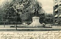 1909 MORNINGSIDE PARK STATUES OF WASHINGTON & La FAYETTE*NEW YORK*PM FORT LEE NJ