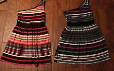 2 Be Bop Juniors One Shoulder Striped Soft Dresses Size Large L
