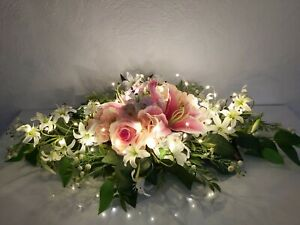 🌹Tischgesteck,Seidenblumengesteck,Tischdeko,Kunstblumengesteck,Fensterdeko