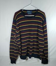 Vintage Polo Ralph Lauren Mens Xxl Size 100% Lambswool Striped Sweater Euc