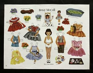 Betsy McCall Paper Doll Compilation, from Paper Doll Review Mag.