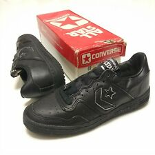 Converse Official Shoe 1980s Oxford Vintage DeadStock Black Leather Athletic 6.5