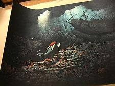 John Barry Ballaran The Little Mermaid Disney Pixar Print Poster Sold Out LE 145