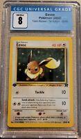 Pokemon 2000 Team Rocket 1st Edition 55/82 Eevee CGC 8 NM/Mint PSA