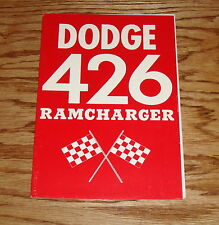 1963 Dodge 426 Ramcharger Owners Operators Manual 63