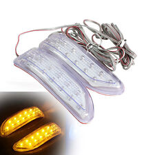 A Pair Yellow Soft Car Truck Turn Signal 13 LED Light Rearview Mirror Lamp Strip