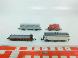 BP197-0,5 #4x Märklin Mini Club Z Gauge / Dc Freight Car DB: Somat +30 + Etc