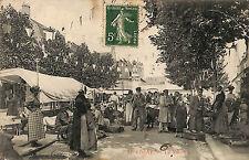 58 COSNE CARTE POSTALE LE MARCHé 1912