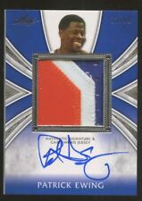 Patrick Ewing 2012 12 Leaf 3-Color NY Knicks Patch Auto #13/99