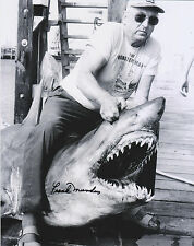 Frank Mundus JAWS RARE SIGNED 8x10 w/ PROOF -Great White Shark - The REAL Quint
