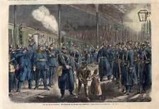 Düsseldorf-Preußen-Militaria kol. Holzstich 1865