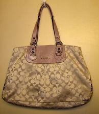 Coach Ashley Signature Carryall Shoulder Bag Purple lavender Lilac F15510