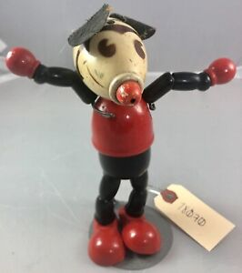 """7"""" Antique American Composition Walt Disney Pointy Nose Mickey Mouse Doll! Rare!"""