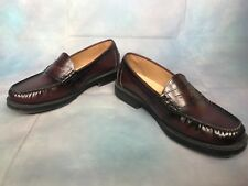 Nunn Bush Men's Penny Loafers Dark Brown Leather Shoes 9.5M Slip Ons (85538-05)