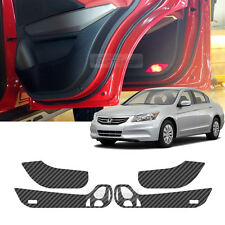 Carbon Door Decal Sticker Cover Anti Kick Protector for HONDA 2008-2012 Accord 8