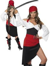 Ladies Sassy Pirate Wench Costume Adults Buccaneer Fancy Dress Womens 8-18