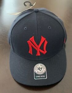 NY Yankees 47 Forty Seven Brand Unisex Baseball MLB Cap Hat Red Logo New York