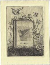 ARTHUR PAUNZEN: Exlibris für Fritz Waldstein, Zwerge