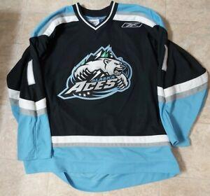 Black Alaska Aces #1 Jean-Phillipe Lamoureux Hockey Jersey 2007-08 ECHL Size XL