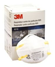 3M 8210 N95 Particulate Respirator Mask, Box Of 20 *Free US Shipping*