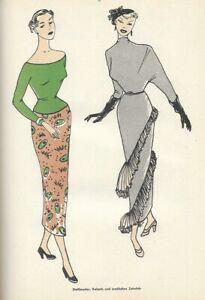 MODEZEICHNEN BildBuch um 1950 Fernakademie Karlsruhe zeichnen lernen Mode