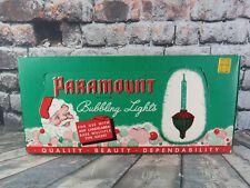 Original Paramount Xmas Bubble Lights in Original Box No Wires Christmas - 10