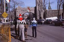 KODACHROME 35mm Slide Canada Quebec City Winter Carnival Old Cars People 1979!!!