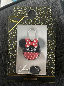 Disney Mickey & Minnie Mouse Travel Luggage Tag & Padlock Holiday Gift Primark