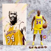 #34 NBA LA Lakers Shaquille O'Neal FAT BOY 1:9 Scale 9 inch Action Figure Box