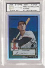 2007 E-TOPPS TED WILLIAMS RED SOX CLEVELAND NATIONALS 1/25 RARE
