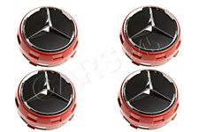 Genuine Mercedes AMG 75mm Red Surround Wheel Center Caps 4 pcs 00040009003594