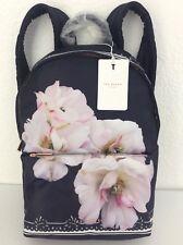 NEW Ted Baker London Kayleey Gardenia Floral Dark Blue Floral Nylon Backpack Bag