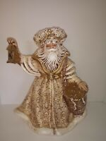 Vintage Old World Santa Claus Father Christmas Ceramic Figure, Garry Sharpe 1992