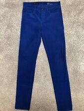 J.Crew Midrise Toothpick Skinny Bright Blue Corduroy Jeans Sz 27 R (BB#1474)